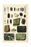 Minerals and Crystals Including Kyanite, Asbestos and Andalusite Giclee Print