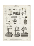 Single Microscope Mechanisms and Parts Giclee Print by J. Farey