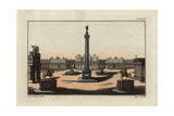 Trajan's Column, the Forum of Trajan and the Basilica Ulpia Giclee Print by Robert von Spalart
