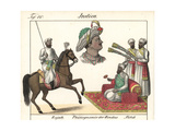 High-Ranking Indians: Rajah on Horseback and a Seated Nabob Giclee Print