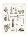 Pneumatics- Flasks, Thermometers and Wind Gauges, 18th Century Giclee Print by J. Farey