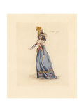 French Woman Wearing the Fashion of October 1792 Giclee Print by Auguste Etienne Guillaumot