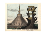 Golden Temple at Pegu (Bago), Burma, and Burmese Tree Fort Giclee Print