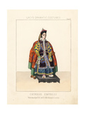 Costume of a Chinese Empress, 19th Century Giclee Print by Thomas Hailes Lacy