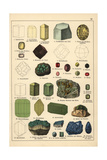 Precious Stones and Crystals Including Topaz, Almandine, Etc Giclee Print