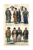 Japanese Circa 1800, Priest, Women, Monk and Soldier Giclee Print