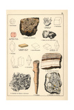 Minerals and Crystals Including Natrolite, Pisolite, Etc Giclee Print