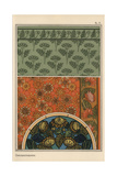 Chrysanthemum in Art Nouveau Patterns Giclee Print by Eugene Grasset