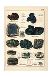 Minerals Including Cuprite Crystals, Azurite, Malachite, Etc Giclee Print