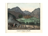 Felatah Warriors Defending Musfeia from an Arab Attack Giclee Print