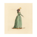 French Woman Wearing the Fashion of January 1793 Giclee Print by Auguste Etienne Guillaumot
