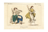 Music and Dance of the 8th or 9th Century Giclee Print by Leopold Massard