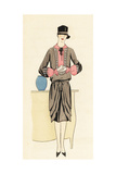 Woman in Afternoon Dress of Crepe Georgine and Cloche Hat Giclee Print