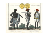 Man from the Coromandel Coast and Two Soldiers from Mysore Giclee Print
