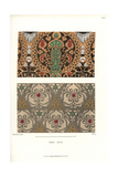 Patterned Silk Fabrics from a Cabinet of Curiosities Giclee Print by Jakob Heinrich Hefner-Alteneck