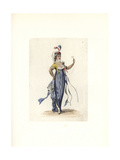 Costume of Pervenche, Nouveau Riche Wife of a Merchant Giclee Print by Auguste Etienne Guillaumot