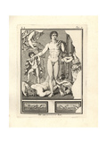 Theseus Standing over the Slain Minotaur in Crete Giclee Print by Tommaso Piroli