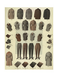 Men's Fashions from the 1920s Giclee Print