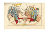 Battle Between Crusaders and Infidels, 12th Century Giclee Print by Leopold Massard