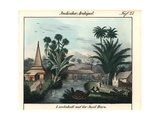 Village on the Island of Buro (Buru) in the Moluccas, Indonesia Giclee Print