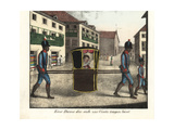 Woman in Veil Riding in Sedan Chair with Slaves in Livery, Brazil Giclee Print