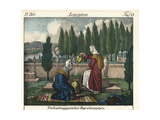 Two Women Praying at a Tomb in a Turkish-Egyptian Cemetery Giclee Print