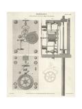 Brockbank's Astronomical Clock Giclee Print by J. Farey