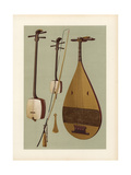 Japanese Stringed Instruments: Siamisen, Kokiu and Biwa Giclee Print by Alfred James Hipkins