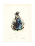 Young Girl from the Canton of Unterwalden, Switzerland, 1825 Giclee Print by Polydor Pauquet