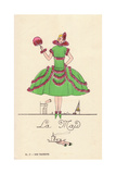 Woman in Fancy Dress Costume as a Maid Giclee Print