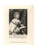 Alathea Talbot, Countess of Arundel and Surrey (1585-1654) Giclee Print by Wenceslas Hollar
