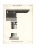 Column, Capital and Base of the Tuscan Order Giclee Print by Wilson Lowry