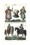 Man from Yemen, Arabian Woman, Arab and Bedouin Tribesman Giclee Print