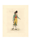 French Man Wearing the Fashion of August 1791 Giclee Print by Auguste Etienne Guillaumot