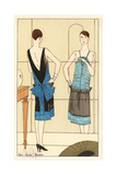 Woman in Evening Dress of Lame and Velvet from the 1920s Giclee Print