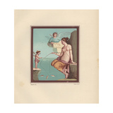 Wall Painting of Venus and Amor Fishing from Pompeii Giclee Print