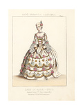 Costume of a Lady of Rank, Reign of King George II, England Giclee Print by Thomas Hailes Lacy
