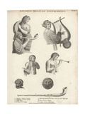 Ancient Roman Musical Instruments Giclee Print