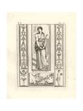 Melpomene, the Muse of Tragedy, Wearing Carthaginian Costume Giclee Print by Tommaso Piroli