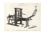 Perspective View of a Common Printing Press, 18th Century Giclee Print by J. Farey