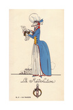 Woman in Revolutionary Fancy Dress Giclee Print