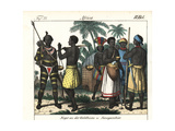Costumes of the Gold Coast (Ghana), Senegal and Gambia, 1800s Giclee Print
