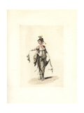 Costume of the Merveilleuse Lodoiska, French Directory Era Giclee Print by Auguste Etienne Guillaumot