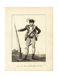 A Private Marine of Col Fourgeoud's Corps Giclee Print by John Gabriel Stedman