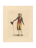 French Man Wearing the Fashion of February 1790 Giclee Print by Auguste Etienne Guillaumot