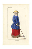French Peasant Farmer, 14th Century Giclee Print by Leopold Massard