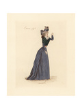 French Woman Wearing the Fashion of February 1793 Giclee Print by Auguste Etienne Guillaumot