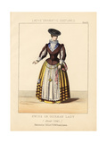 Swiss or German Lady, About 1640 Giclee Print by Thomas Hailes Lacy