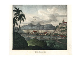 View of the Town of Rio De Janeiro, Brazil Giclee Print