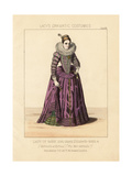 Gabrielle d'Estrees, Mistress of Henry Iv of France, 1595 Giclee Print by Thomas Hailes Lacy